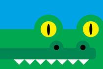 Rectangimal Crocodile von Krista de Groot