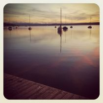 Lake Ammersee evening glory (Instagram) von Eva Stadler