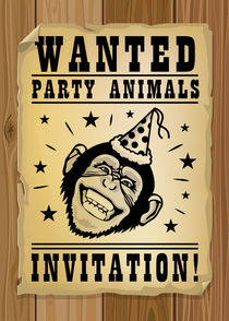 Wanted, party animals by Maarten Rijnen