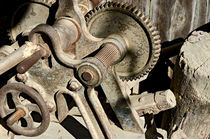 Old and rusty agricultural machine by Leopold Brix