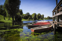 Boats in Olympiapark Munich  by Martin Dzurjanik