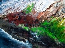Erdformation Vegetation und Lava by Helga Berger