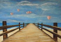 Der Steg am Meer by Elke Sommer