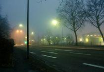 Stadt im Novembernebel -  von Lucie Gordon