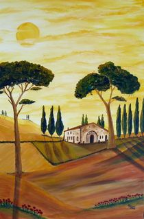 Toscana in GELB von Christine Huwer