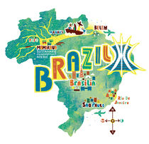 Brazil Map by Migy Ornia-BLanco