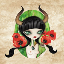 Taurus - Zodiac Series by Sandra Vargas