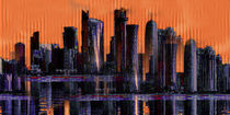 Skyline Doha Bahrain by Marie Luise Strohmenger