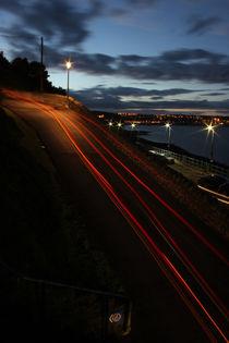 Light trails at Mumbles by Dan Davidson