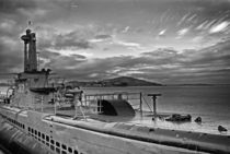 U-Boat / Alcatraz Island by J Nathaniel Dicke