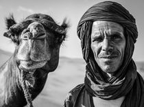 Camel Man - Black & White Portrait by Russell Bevan Photography