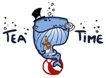 Tea Time Whale by Patricia Corrales