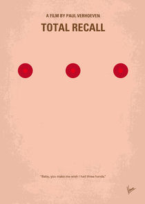 No097 My Total Recall minimal movie poster von chungkong