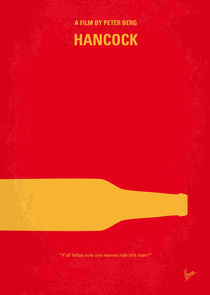 No129 My HANCOCK minimal movie poster by chungkong