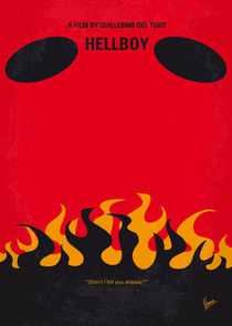 No131 My HELLBOY minimal movie poster by chungkong