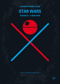 No154 My STAR WARS Episode IV A New Hope minimal movie poster by chungkong
