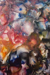 Hortensienblüten  I - Encaustic von Ulrike Kröll