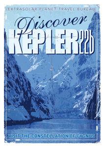 Exoplanet 02 Travel Poster KEPLER 22b by chungkong