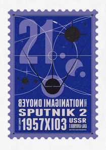 Starships 21-poststamp -Sputnik 2 by chungkong