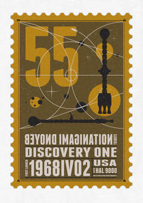 Starships 55-poststamp -Discovery One by chungkong