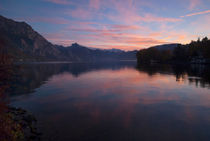 Sunset at Traunsee von dayle ann  clavin