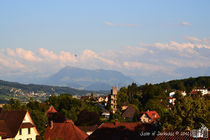 Mount Rigi and Hotair Balloons by sisterofdarkness