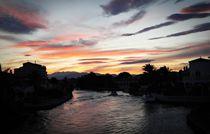 Sunset over the channel by Marta Przybyszewska