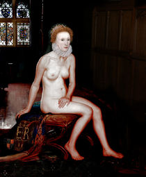 QUEEN ELIZABETH I SEATED NUDE by Karine PERCHERON DANIELS
