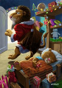 Lion-christmas-flat