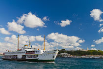 Ferry in front of Topkapi Palace by Evren Kalinbacak