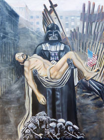 The Entombment: Darth Vader, Caravaggio's Christ and the rubble of the world trade centers by Cedric Chambers