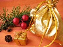 Weihnachtliches Geschenkesäckchen by Heike Rau