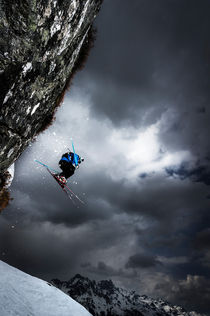 Stormy ski jump by Ross Woodhall