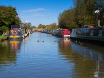 Narrowboats on the Oxord Canal by Louise Heusinkveld