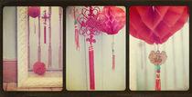 Chinese Lanterns Triptych von Sybille Sterk