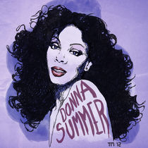 Donna Summer Portrait Sketch by monkeycrisisonmars
