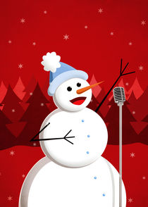 Christmas Happy Singing Snowman by Boriana Giormova