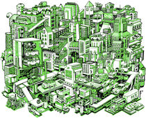 City Machine - Green von Nigel Sussman