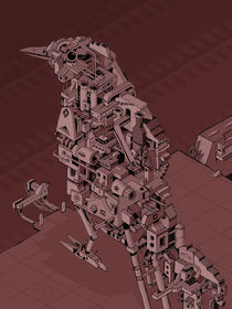 Robot Bird - Mockingbird von Nigel Sussman