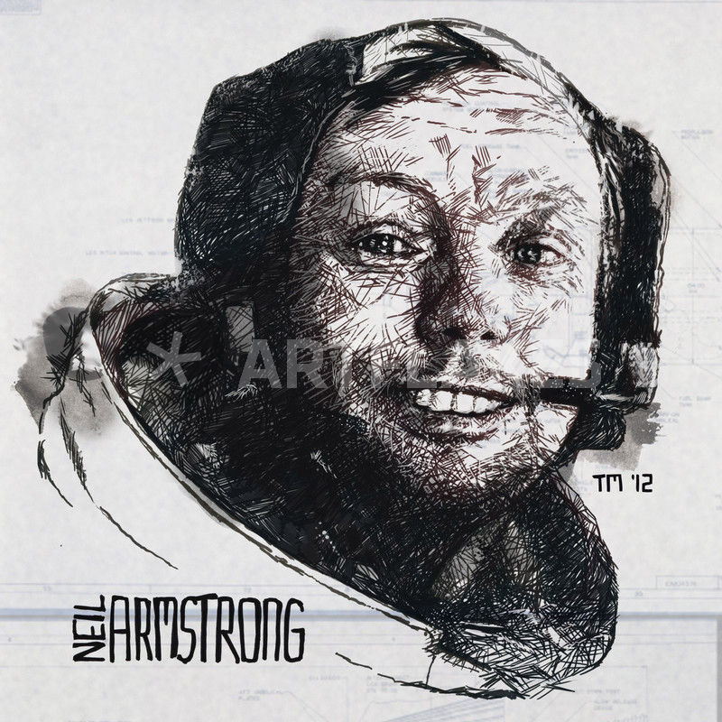 """Gnorts Mr Neil! – Portrait of Astronaut Neil Armstrong ..."