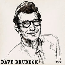 Portrait sketch of Dave Brubeck by Tom Mayer, San Diego CA by monkeycrisisonmars