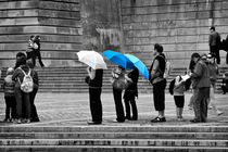 Blue Umbrellas von Louise Heusinkveld
