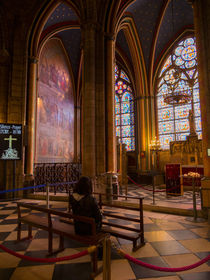 Notre Dame Cathedral Chapel, Paris by Louise Heusinkveld