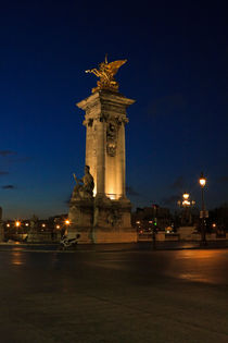 Pont Alexandre III at night, Paris, France by Louise Heusinkveld