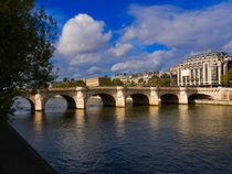 Pont Neuf, Seine River, Paris by Louise Heusinkveld