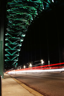 Light trails on Tyne Bridge by Dan Davidson