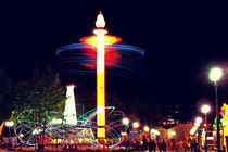 Amusement park at night by Diana Korennaya