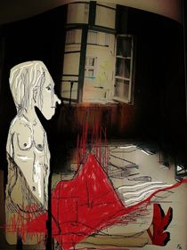 The girl with the red shoes von Franziska Kolbe