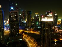 Dubai Skyline at night by Eva-Maria Steger