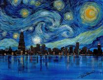 Starry Chicago by Roseann Madia